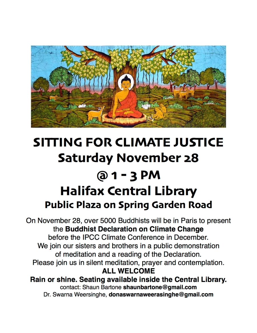 Sitting for Climate Justice