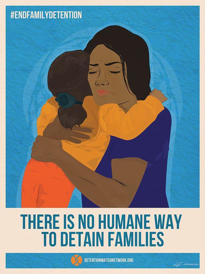 DWN End Family Detention Poster